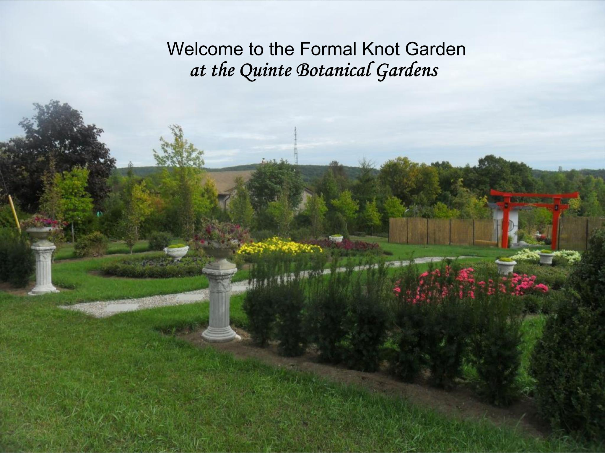The Formal Knot Garden